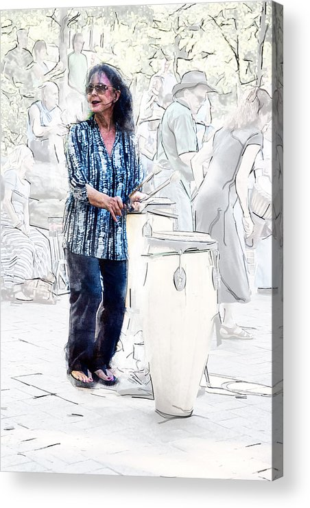 Drum Circle Acrylic Print featuring the photograph Drum Mother by John Haldane