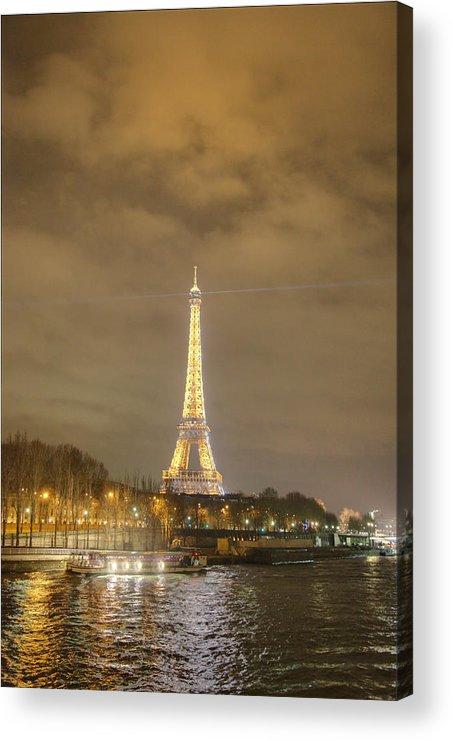 Antique Acrylic Print featuring the photograph Eiffel Tower - Paris France - 011339 by DC Photographer