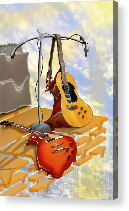 Rock And Roll Acrylic Print featuring the photograph Electrical Meltdown by Mike McGlothlen