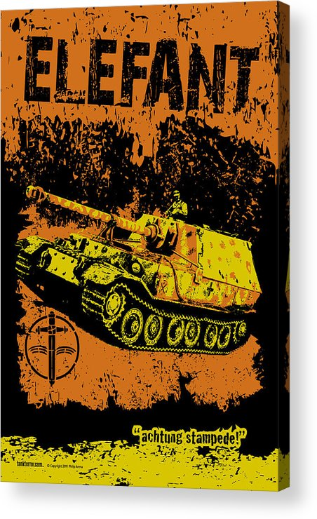 Armor Acrylic Print featuring the digital art Elefant Tank by Philip Arena