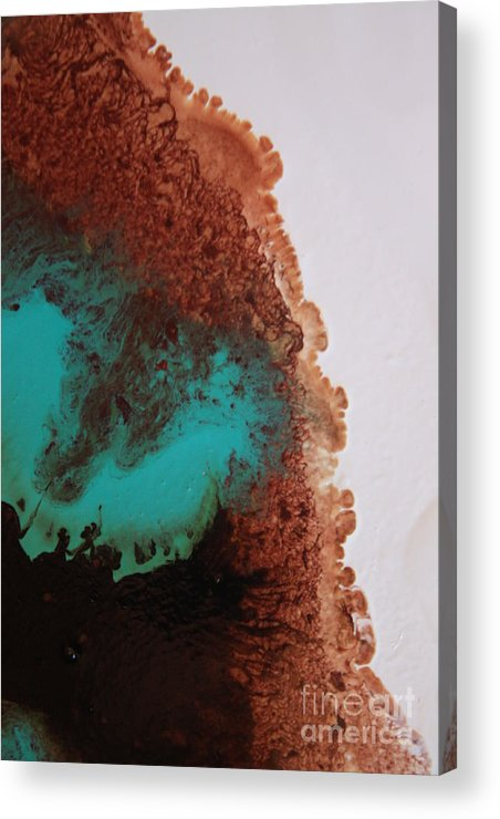 Cream Acrylic Print featuring the photograph Emerald And Brown Mixing by Lisa Payton