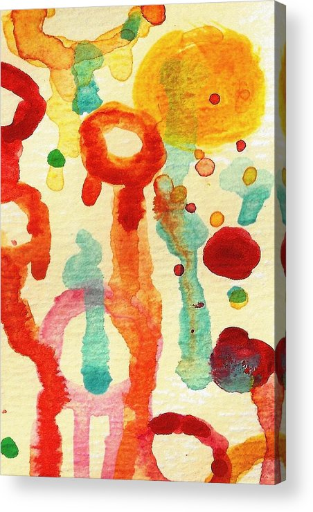 Abstract Acrylic Print featuring the painting Encounters 1 by Amy Vangsgard