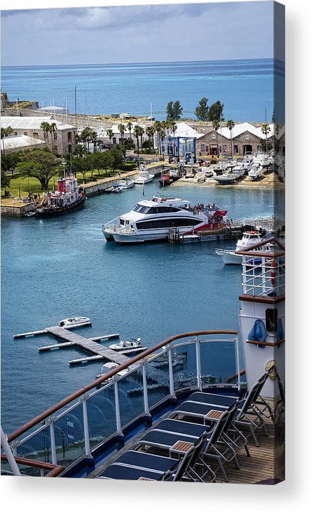 Water Acrylic Print featuring the photograph Enjoying The Harbor View by Lucinda Walter