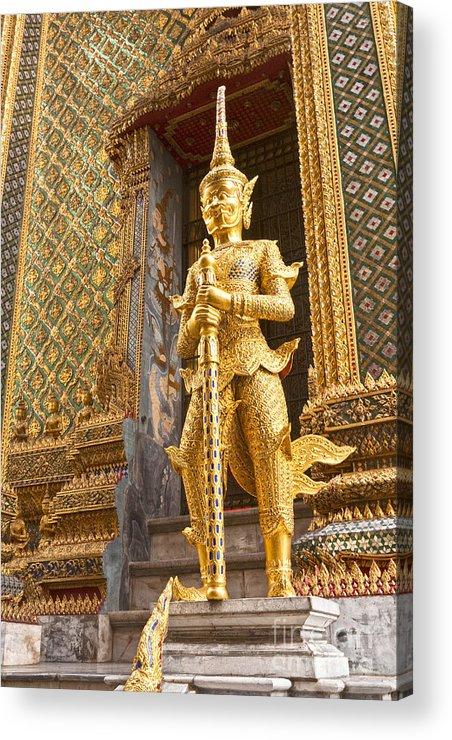 Bangkok Acrylic Print featuring the photograph Entrance To Phra Mondop Bangkok by Colin and Linda McKie
