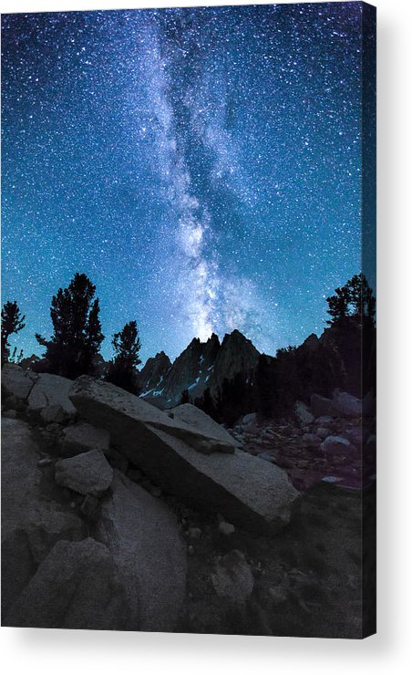 Kearsarge Lakes Acrylic Print featuring the photograph Eruption Of The Milky Way by Larry Pollock