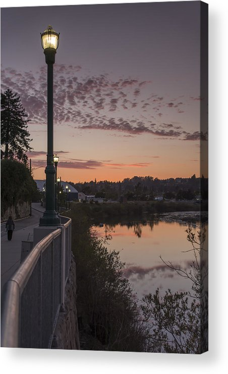 Sunset Acrylic Print featuring the photograph Evening By The River by Bruce Frye