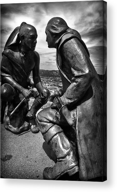 Guyasuta's Legacy Acrylic Print featuring the photograph Face To Face by Brian Archer