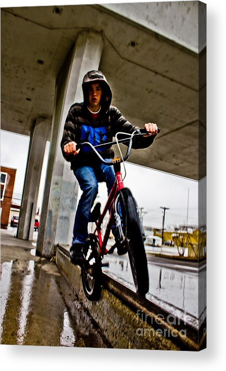 Grind Acrylic Print featuring the photograph Feeb Grind by Joel Loftus