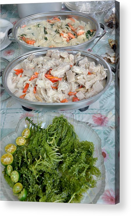 Filipino Food - Salad And Side Dishes Acrylic Print