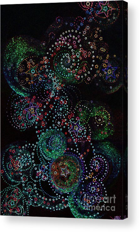 Firststarart Acrylic Print featuring the mixed media Fireworks Celebration By Jrr by First Star Art