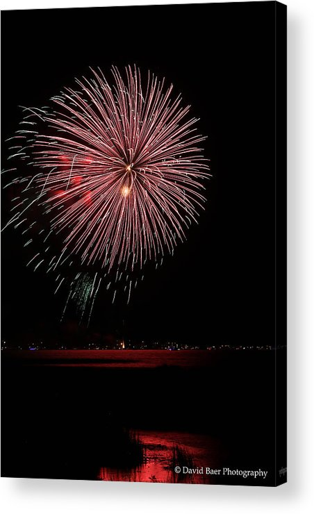 Acrylic Print featuring the photograph Fireworks by David Baer