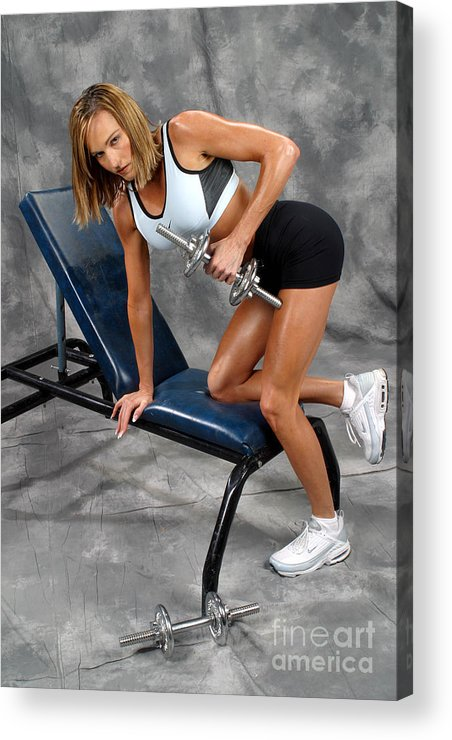 Model Acrylic Print featuring the photograph Fitness 30 by Gary Gingrich Galleries