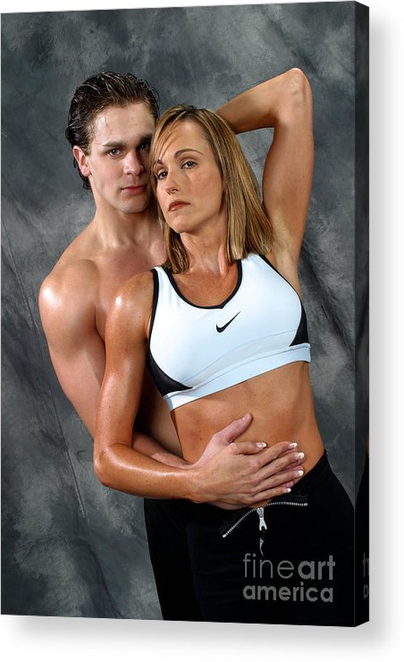 Model Acrylic Print featuring the photograph Fitness Couple 27 by Gary Gingrich Galleries