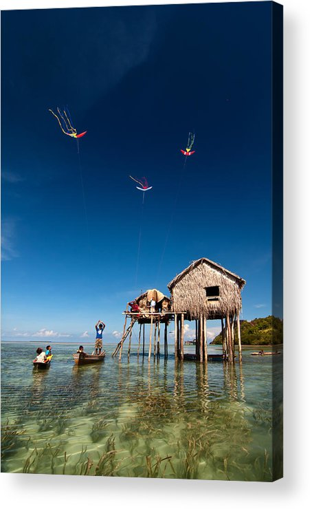 Flying Acrylic Print featuring the photograph Flying Kites by Kim Pin Tan