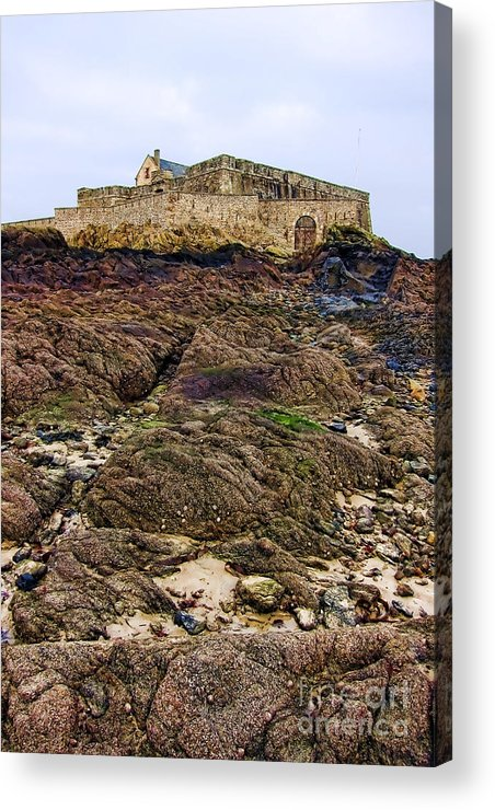 France Acrylic Print featuring the photograph Fort National In Saint Malo Brittany by Olivier Le Queinec