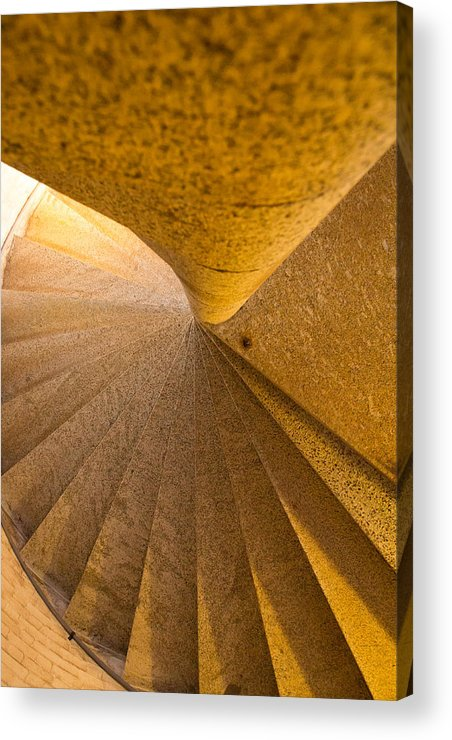 Rock Stairs Acrylic Print featuring the photograph Fort Point Stairs by Larry Fry