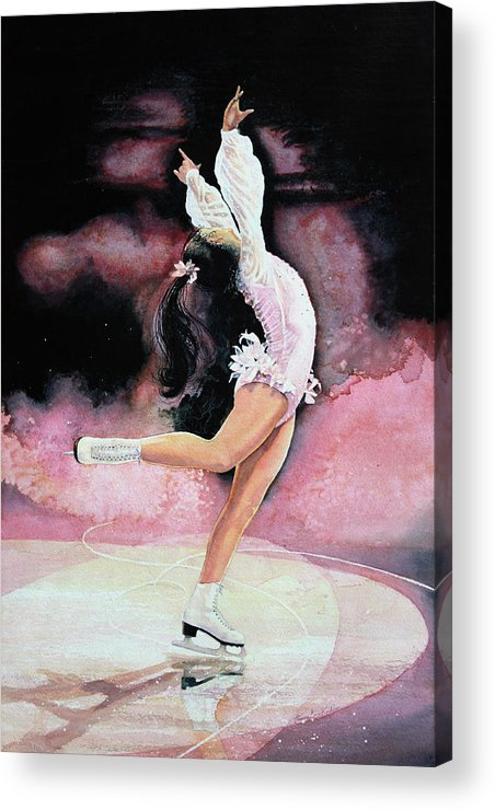 Skating Acrylic Print featuring the painting Free Spirit by Hanne Lore Koehler