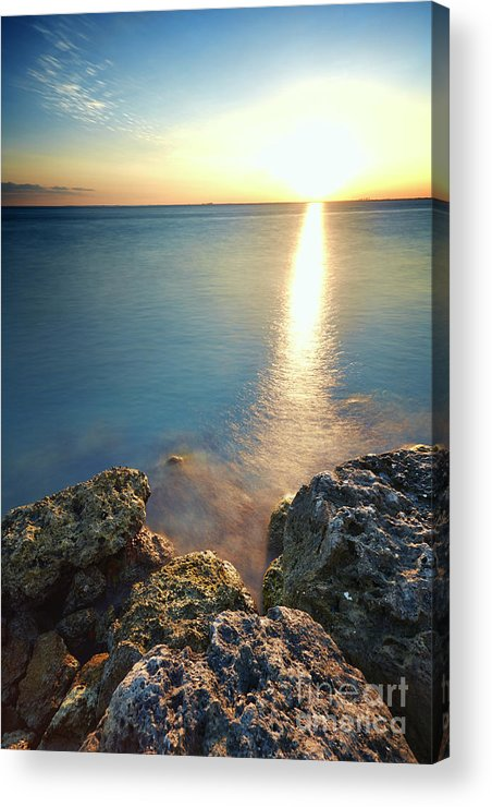 Rocks Acrylic Print featuring the photograph From The Sea Rocks by Eyzen M Kim