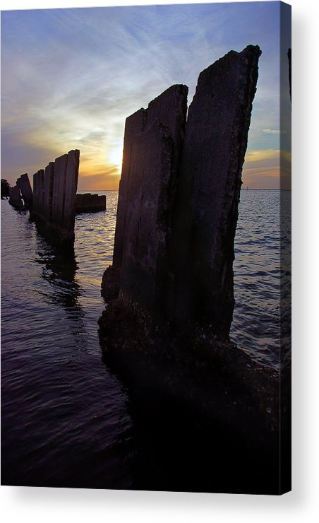 Tampa Acrylic Print featuring the photograph Gandy Wall At Sunset IIi by Daniel Woodrum