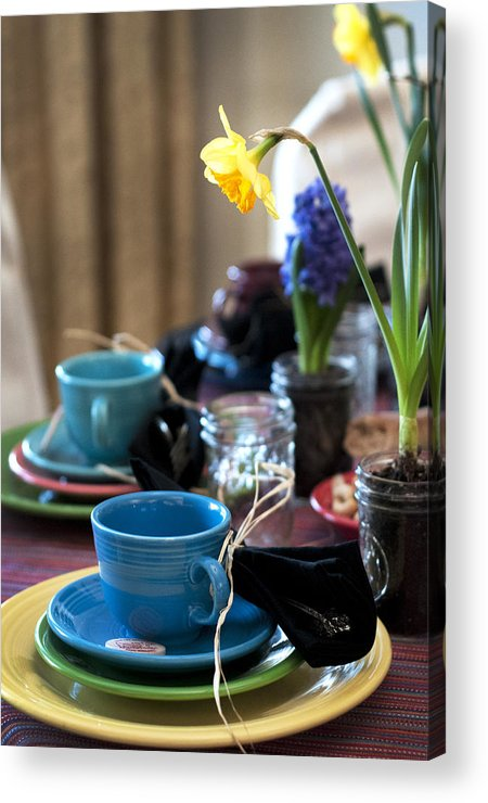 Tea Party Acrylic Print featuring the photograph Garden Party by Samantha Schram
