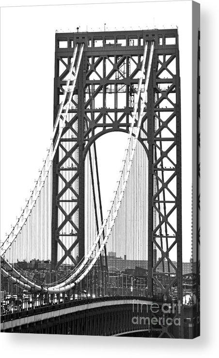 George Washington Bridge Acrylic Print featuring the photograph George Washington Bridge Nj Tower by Regina Geoghan