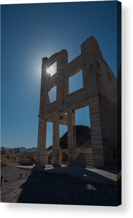 Ghost Town Acrylic Print featuring the photograph Ghost Town - Rhyolite by George Buxbaum