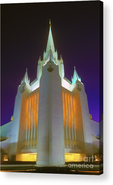 Mormon Acrylic Print featuring the photograph Glowing Temple by Paul W Faust - Impressions of Light
