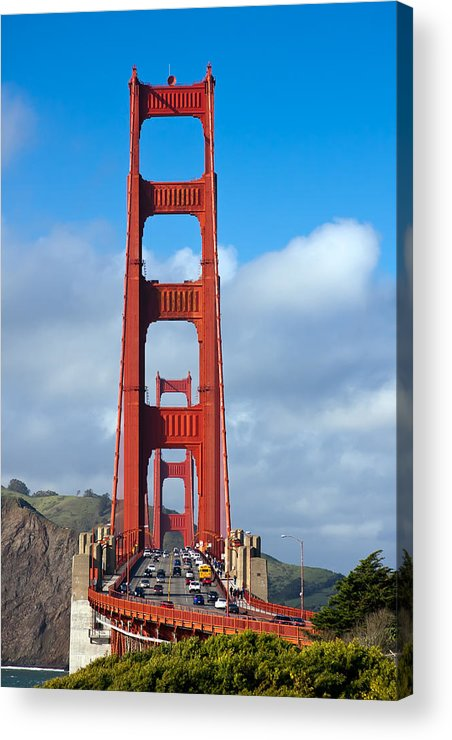3scape Acrylic Print featuring the photograph Golden Gate Bridge by Adam Romanowicz