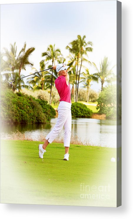 Photograph Acrylic Print featuring the photograph Golf Hawaii by Jan Tyler