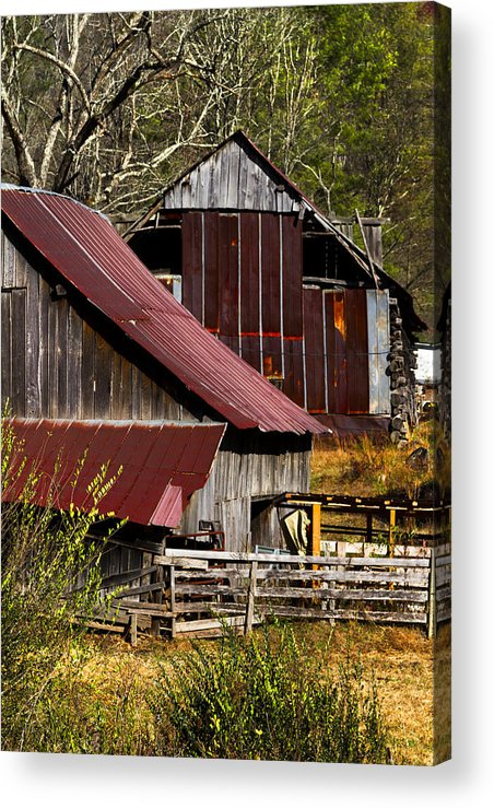 American Acrylic Print featuring the photograph Great Grandpa's Place by Debra and Dave Vanderlaan