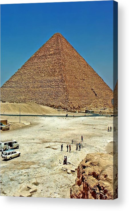 Great Pyramid Of Giza Acrylic Print featuring the photograph Great Pyramid Of Giza by Steve Harrington