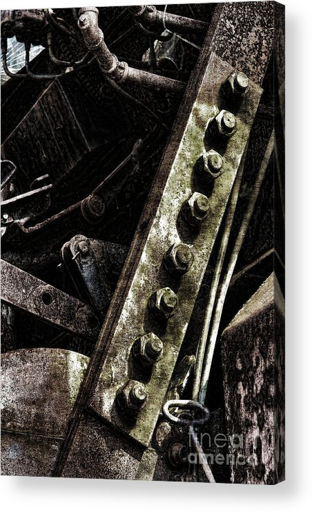 Industrial Acrylic Print featuring the photograph Grunge Industrial Machinery by Olivier Le Queinec