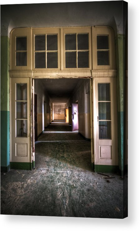Abandoned Acrylic Print featuring the digital art Hallway by Nathan Wright