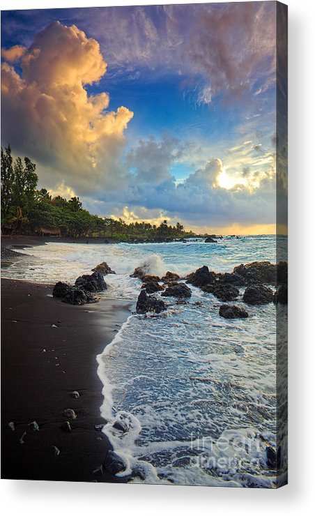 America Acrylic Print featuring the photograph Hana Clouds by Inge Johnsson