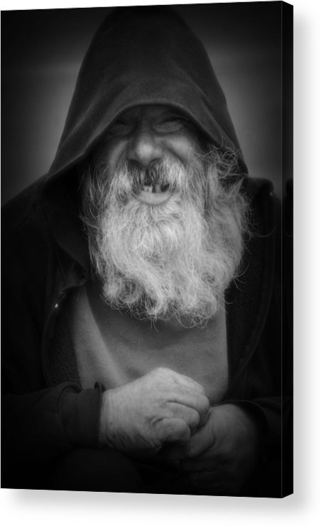 Homeless Acrylic Print featuring the photograph Happy To Oblige by Nadalyn Larsen