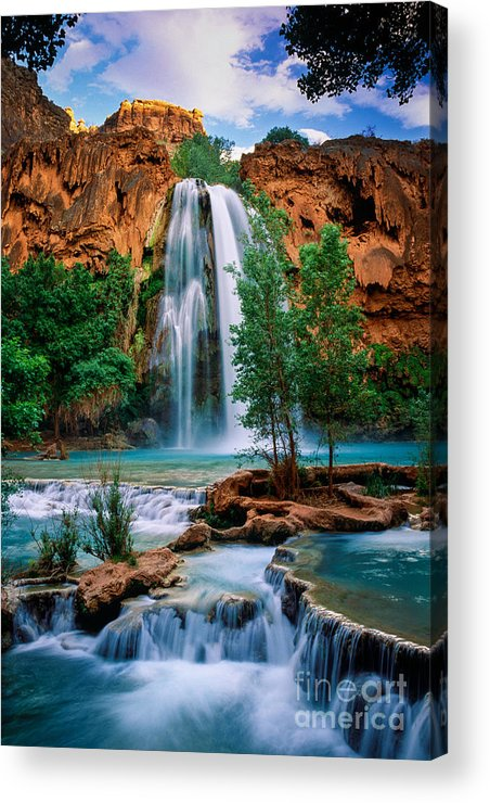 America Acrylic Print featuring the photograph Havasu Cascades by Inge Johnsson
