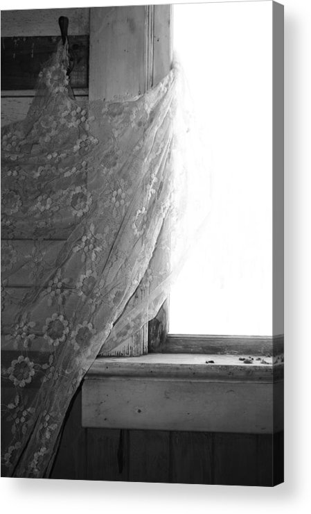 Window Acrylic Print featuring the photograph Held Up On Wind by The Artist Project
