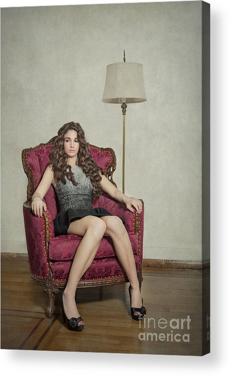 Girl Acrylic Print featuring the photograph Her Majesty by Evelina Kremsdorf