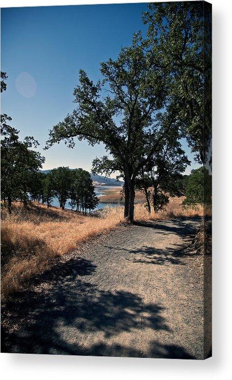 New Hogan Lake Acrylic Print featuring the photograph Hiking Trail by Joe Fernandez