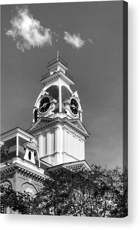 Central Hall Acrylic Print featuring the photograph Hillsdale College Central Hall Cupola by University Icons