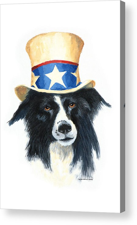 Dog Acrylic Print featuring the painting In Dog We Trust by Jerry McElroy