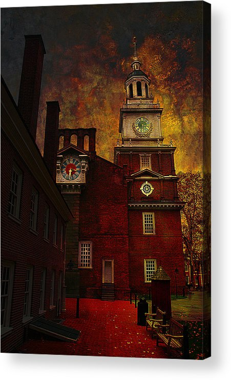 Philadelphia Acrylic Print featuring the photograph Independence Hall Philadelphia Let Freedom Ring by Jeff Burgess