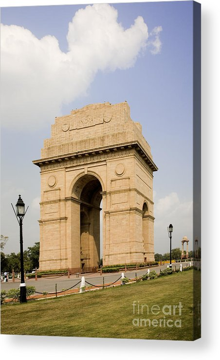 Architectural Acrylic Print featuring the photograph India Gate, New Delhi, India by David Davis