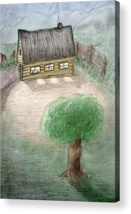 Infantile Acrylic Print featuring the drawing Infantile Dream by Carlos Vieira