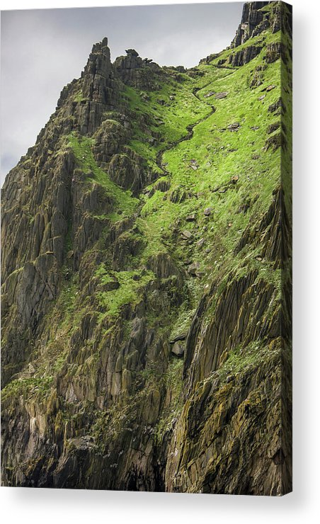 Atlantic Acrylic Print featuring the photograph Ireland Skellig Michael Island Europe's by Tom Norring