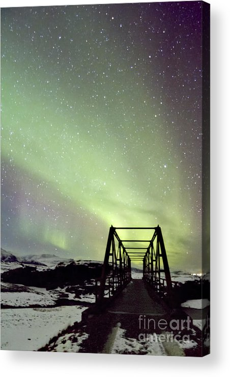 Aurora Acrylic Print featuring the photograph It Came Upon A Midnight Clear by Evelina Kremsdorf
