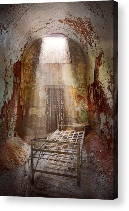 Jail Acrylic Print featuring the photograph Jail - Eastern State Penitentiary - 50 Years To Life by Mike Savad