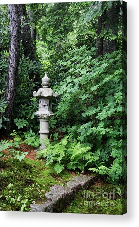 Japanese Garden Acrylic Print featuring the photograph Japanese Garden Lantern by Christiane Schulze Art And Photography