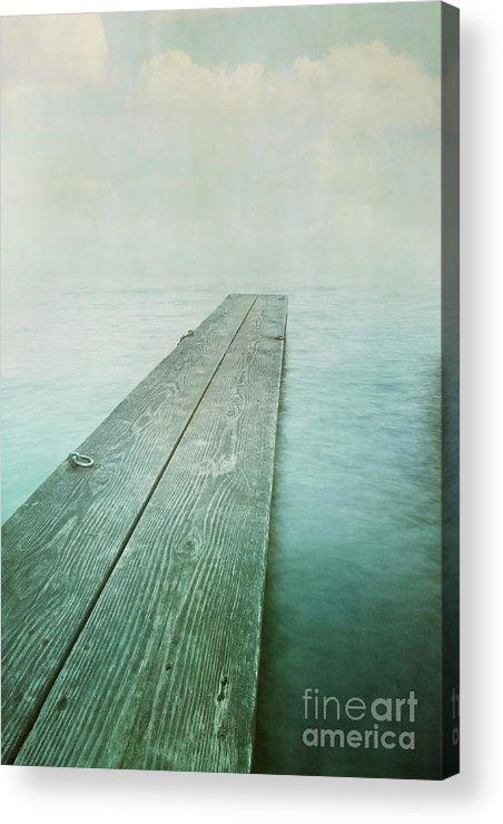 Photomanipulation Acrylic Print featuring the photograph Jetty by Priska Wettstein