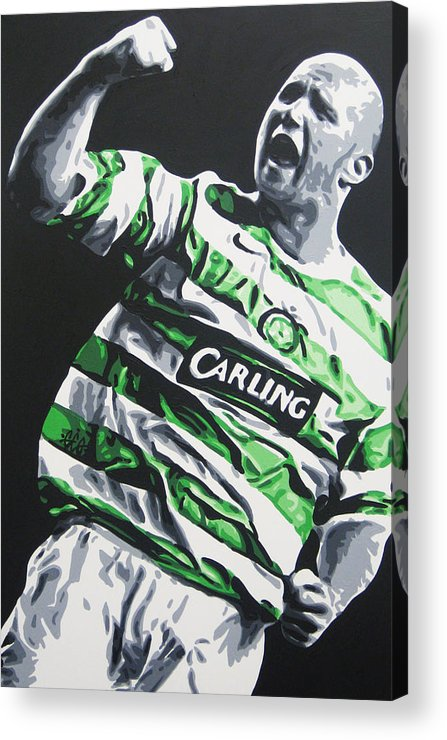 John Hartson Acrylic Print featuring the painting John Hartson - Celtic Fc by Geo Thomson